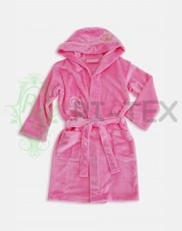 """Махровий халат для дівчаток """"Лебідь"""" М-014 (7-16 років)"""