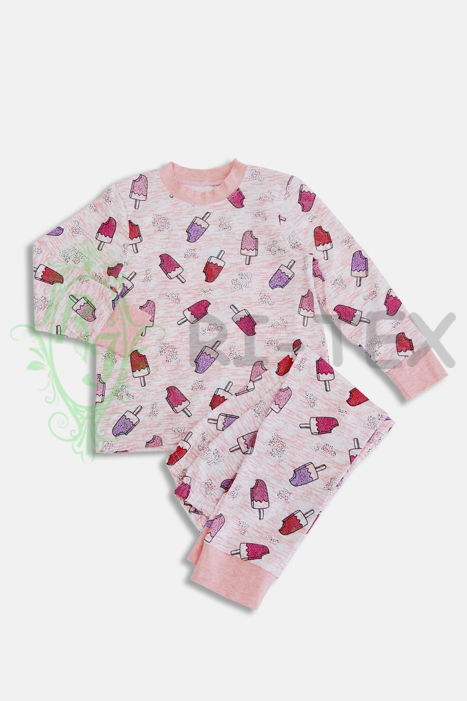 """Піжама для дівчаток """"Морозиво"""" М-019 (3-16 років)"""