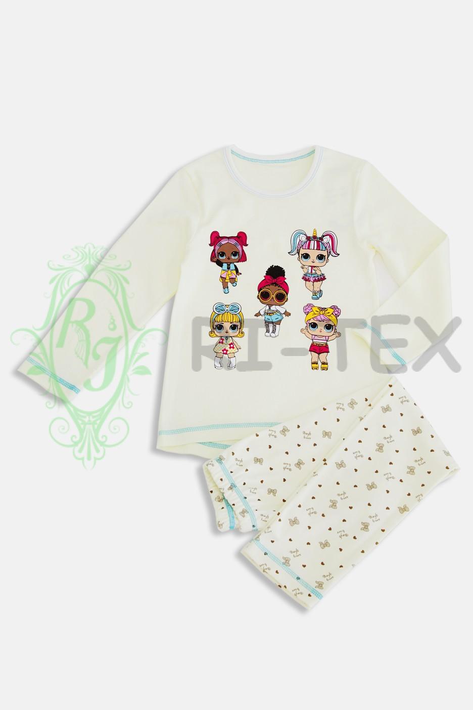 """Піжама для дівчаток """"Лоли"""" М-020 (3-10 років)"""