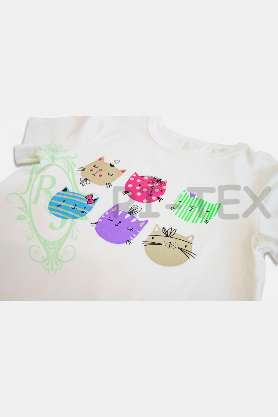 """Піжама для дівчаток """"Котики"""" М-035 (3-14 років)"""