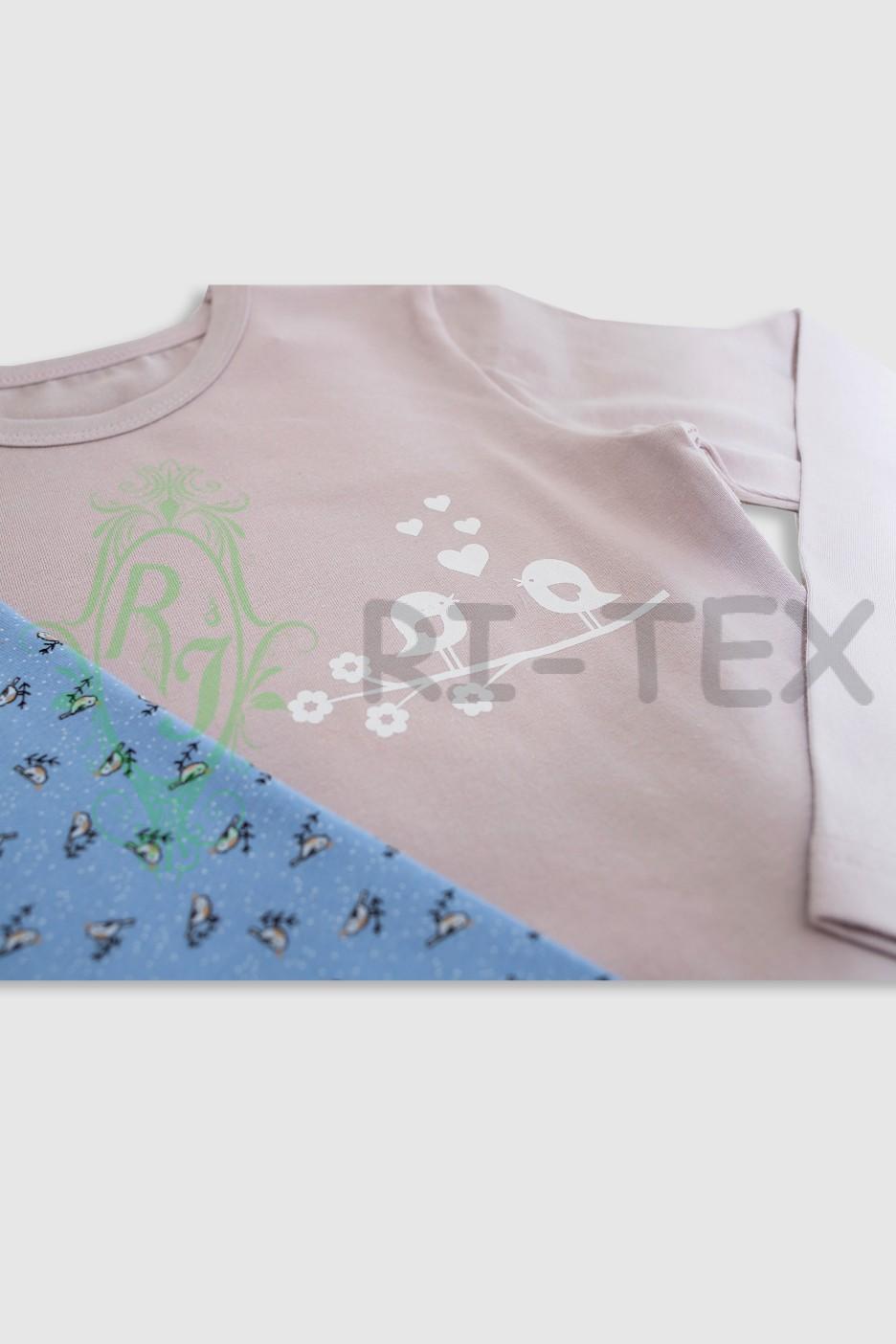 """Піжама для дівчаток """"Пташки"""" М-047 (7-14 РОКІВ)"""