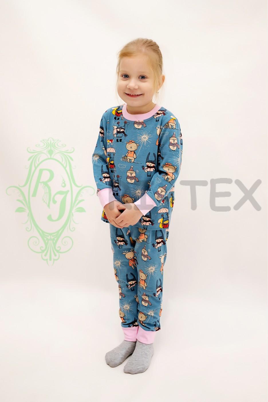 """Піжама для дівчаток """"Казкові герої"""" М-049 (3-12 років)"""