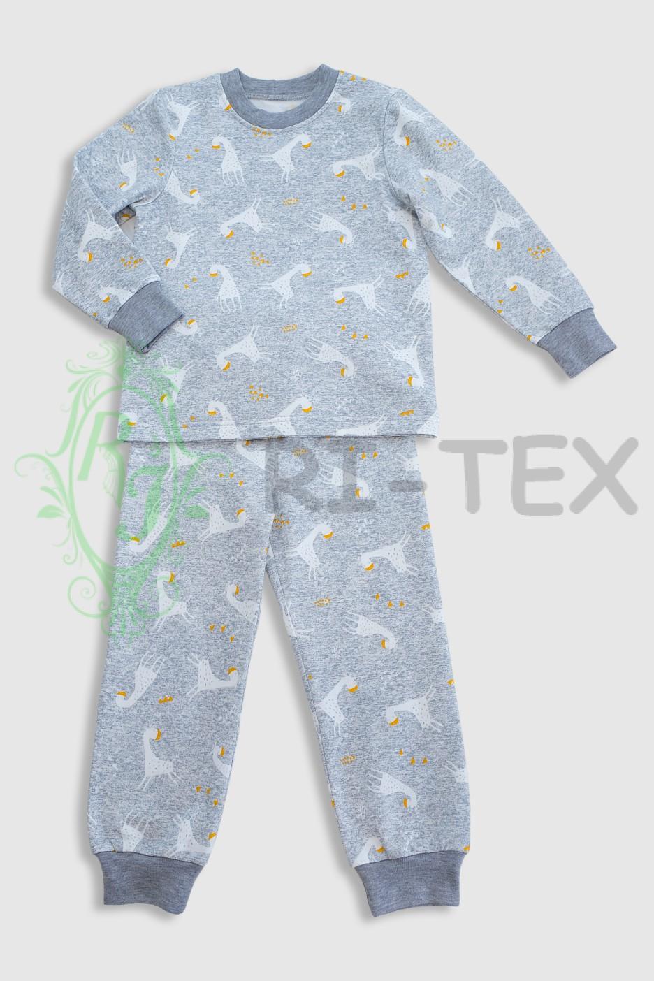 """Піжама для хлопчиків """"Жирафи"""" М-051 (3-16 років)"""