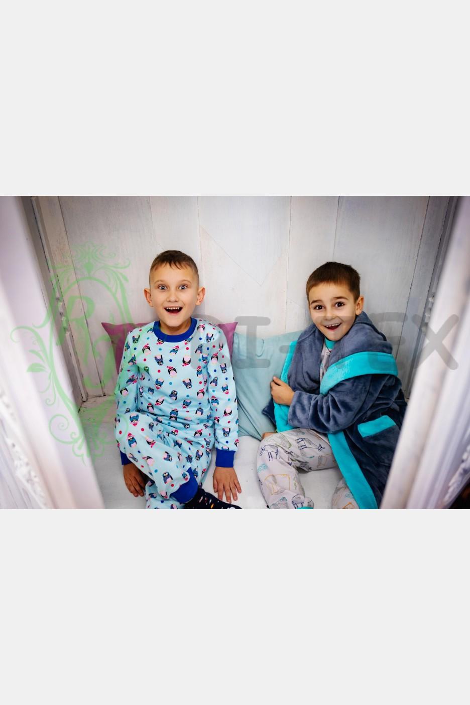"""Піжама для хлопчиків """"Пінгвінчики""""  М-053 (3-8 років)"""