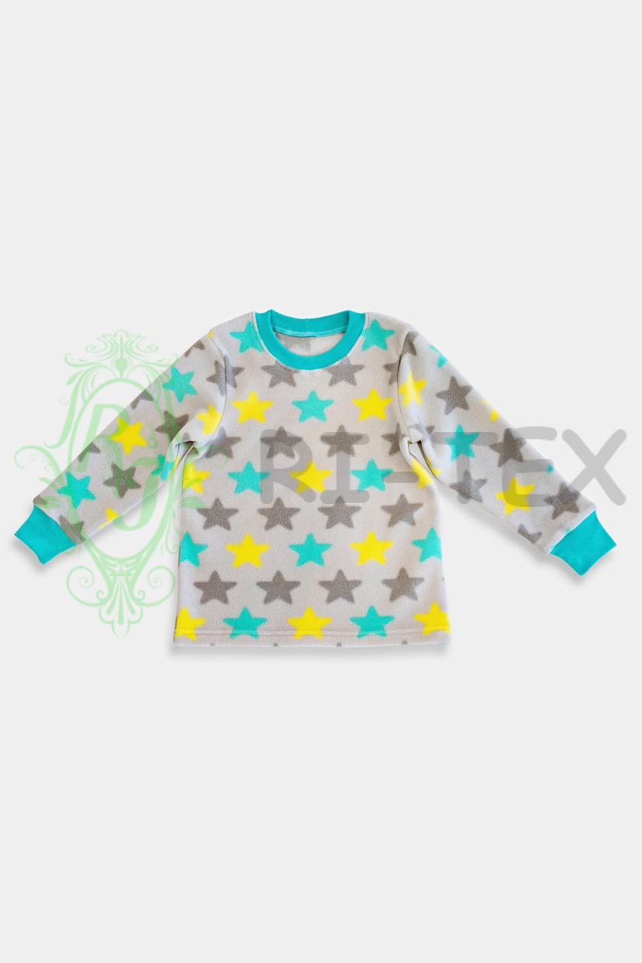 """Піжамка утеплена для хлопчиків та дівчаток """"Зірки"""" М-056 (3-16 років)"""