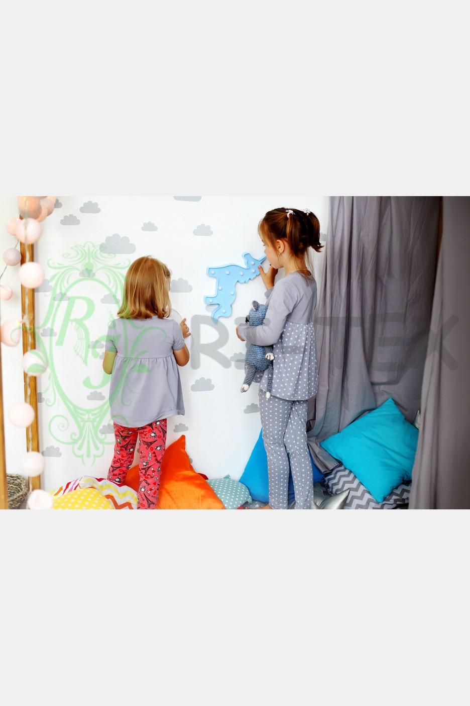 Піжама для дівчаток з сердечками М-002 (3-10 років)