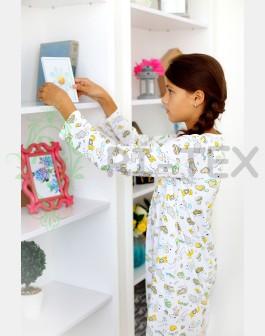 """Нічна сорочка для дівчаток """"Сердечко"""" М-012 (7-10 років)"""