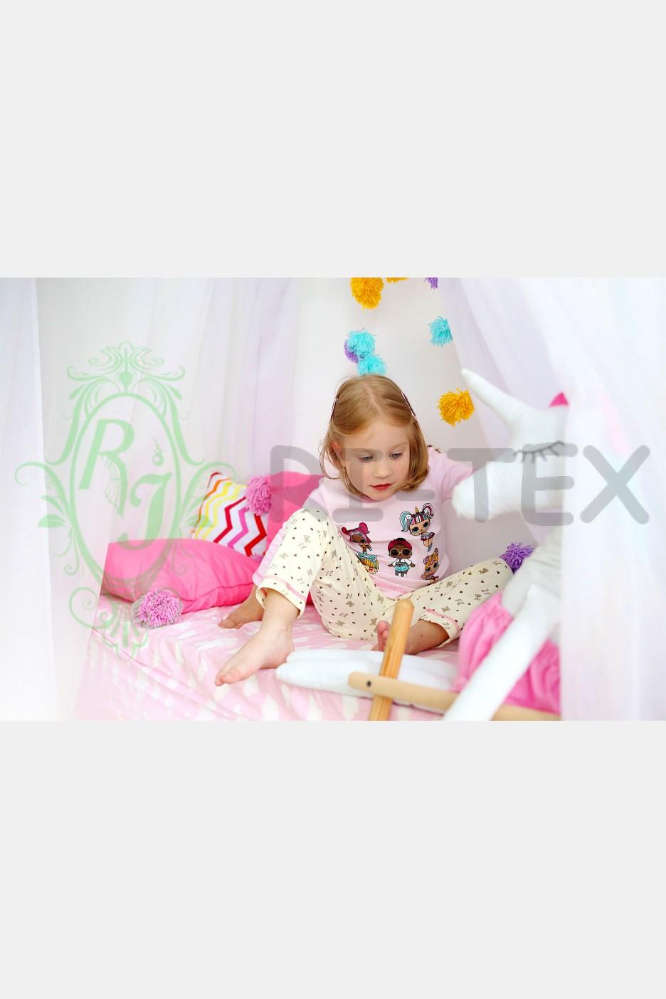 """Піжама для дівчаток """"Лоли"""" М-021 (3-10 років)"""