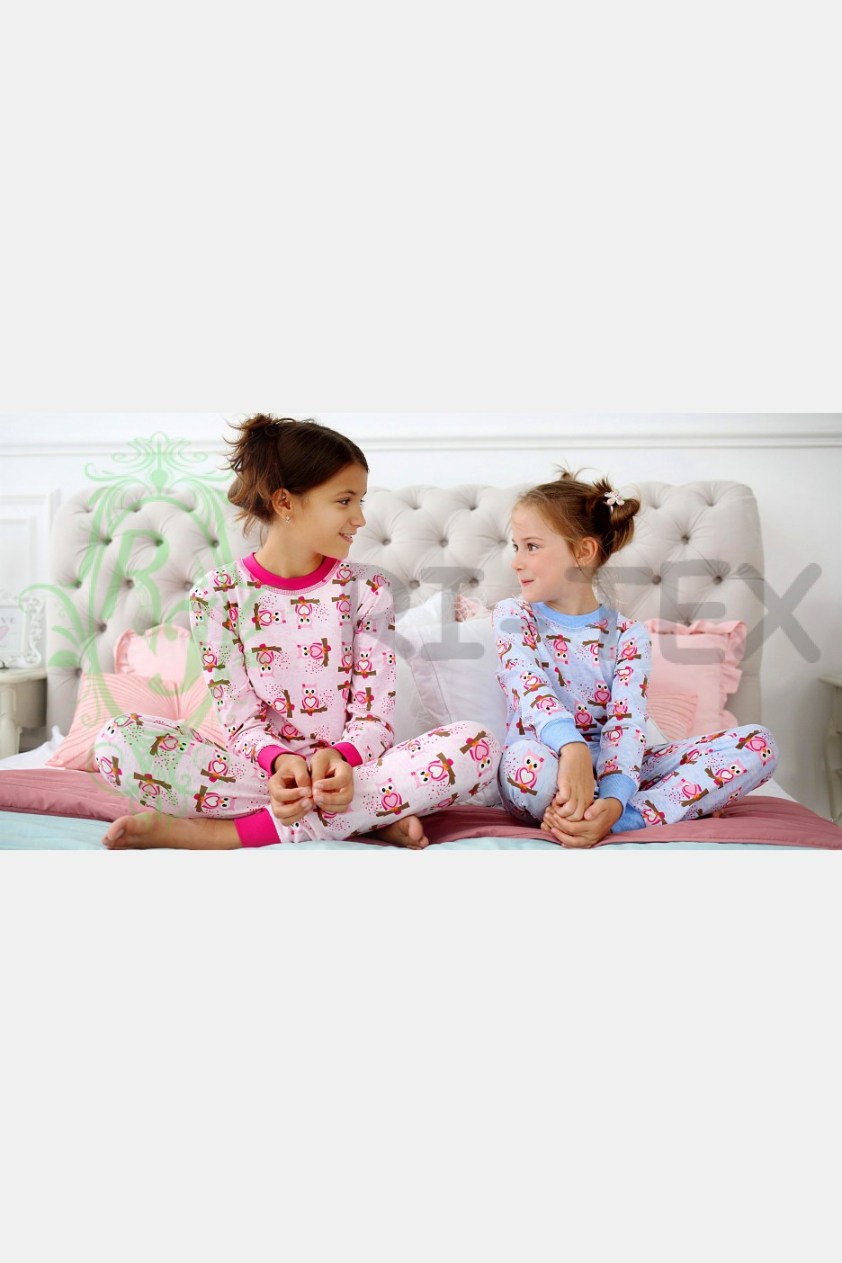 """Піжама для дівчаток """"Сови"""" М-025 (3-16 років)"""